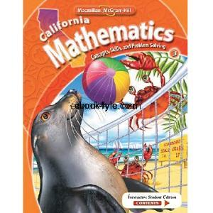 California Mathematics Concepts Skills and Problem Solving Grade 3