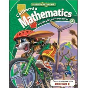 California Mathematics Concepts Skills and Problem Solving Grade 4
