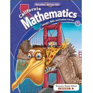 California Mathematics Concepts Skills and Problem Solving Grade 5